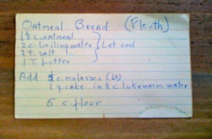 """oatmeal bread recipe"""
