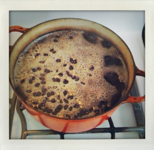 """""""black beans cooking:"""