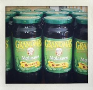 """grandma's green label molasses"