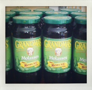 """grandma's green label molasses"