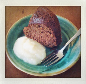 """rick's gingerbread with applesauce"