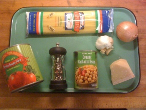 """ingredients for tomat e ceci"