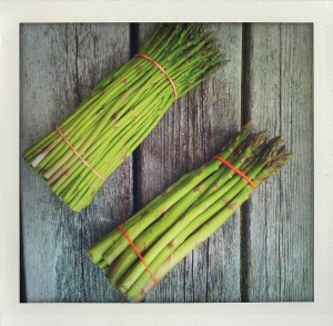 """thin and fat asparagus"""