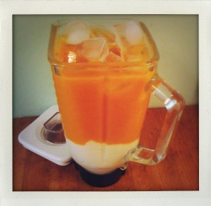 """Mango Lassi in blender"""