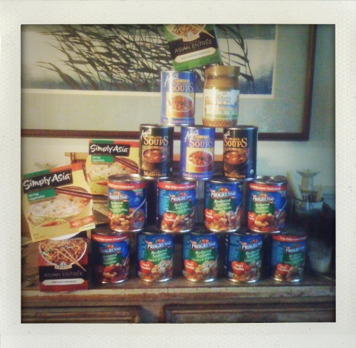 """Pyramid of soup cans"""