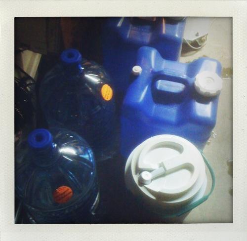 """""""water jugs downstairs"""""""