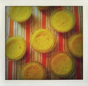 """""""lemon sponge custard cooling"""""""