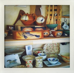 """local pottery at the cummington creamery"""