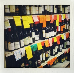 """wines at the Cummington creamery"""