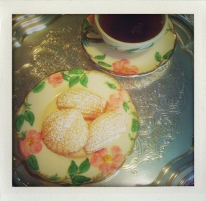 """tea and madeleines"""