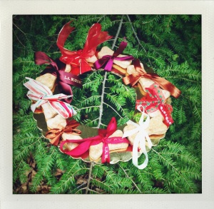 """dog bone wreath #2"""