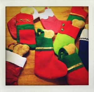 """""""dog bone stockings"""""""