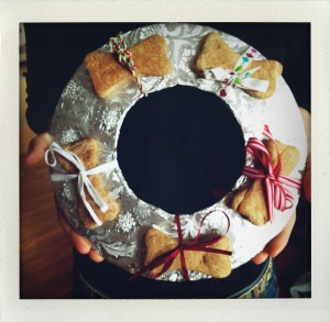 """dog bone wreath #1"""