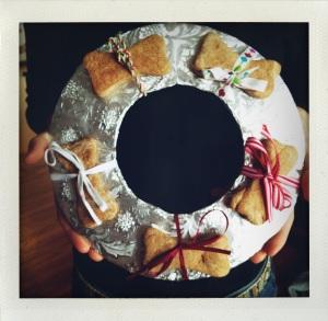 """dog bone wreath #1"""