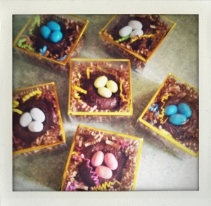 """chocolate nests"""