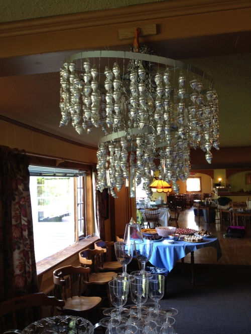 """Hershey Kiss chandelier"""