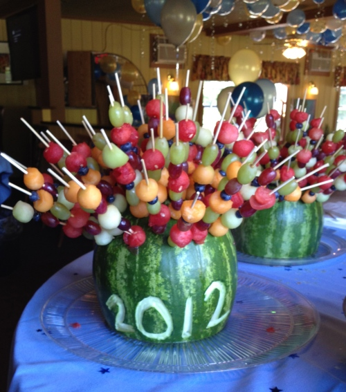 """Class of 2012 fruit kabobs"""
