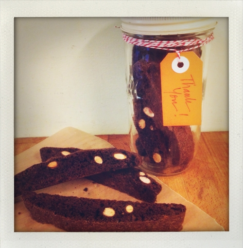 """chocolate biscotti with nuts"""