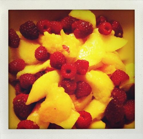 """peach raspberry fruit base"""