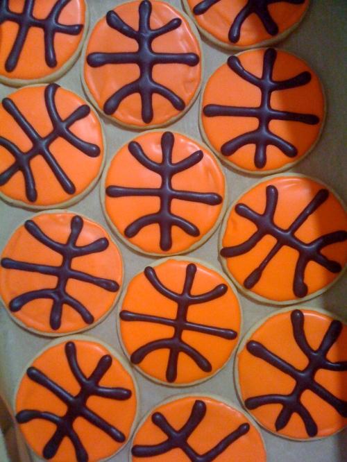 """basketball sugar cookies"""