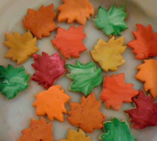 """""""Leaf shaped sugar cookies"""""""