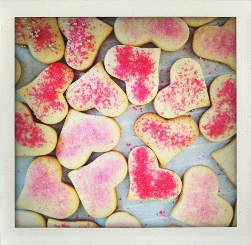 """sugar decorated sugar cookies"""