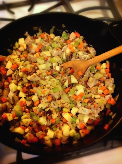 veggie-sausage mix for stuffing