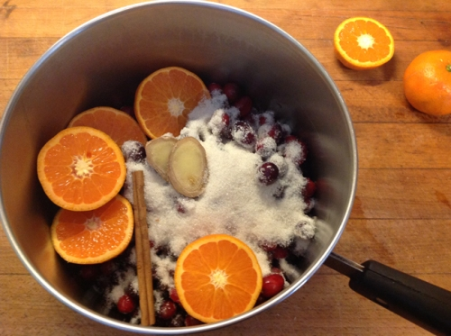 homemade ginger orange cranberry sauce
