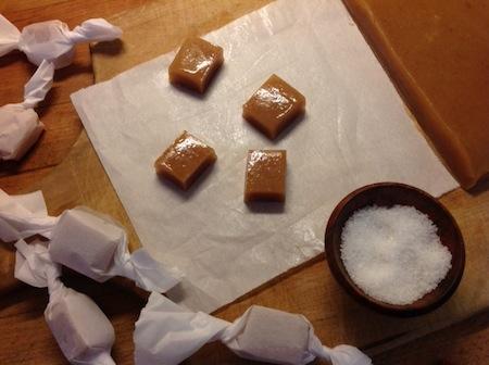 caramels and sea salt