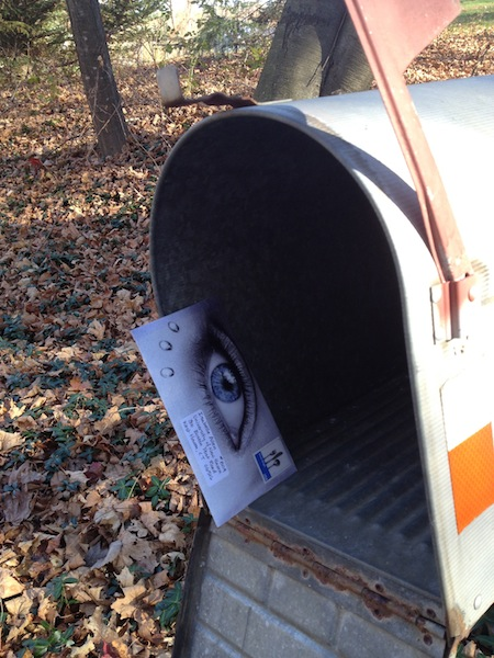 handmade envelope happy mail