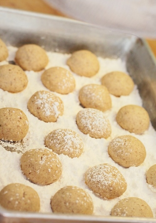 Ready to powder with confectioners sugar - Mexican wedding cookies