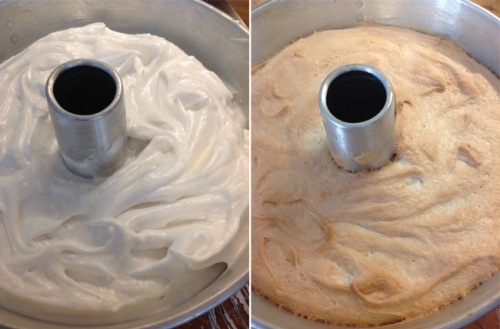 Angel Food Cake before-after