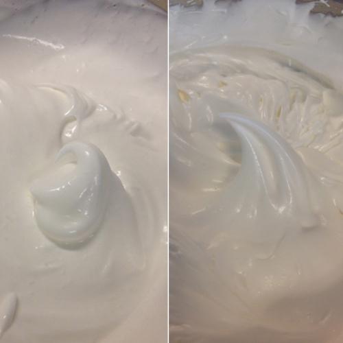 Egg Whites Soft Peak and Stiff Peak