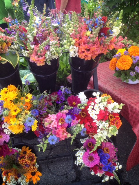 Flowers at the farmer's market