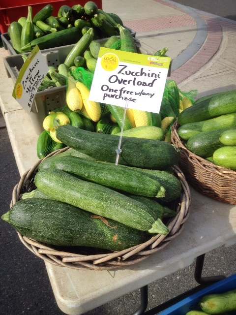 Free zucchini with purchase