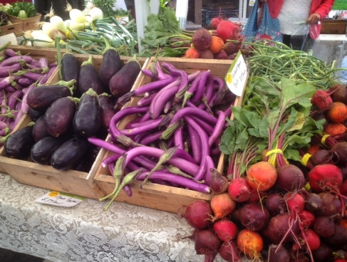 Glorious eggplants and beets