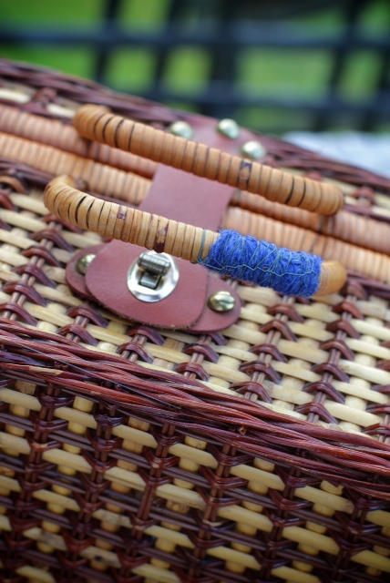 Mended picnic basket handle