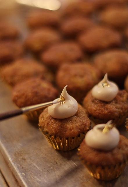 Gilding a 24 Karat Carrot Cupcake