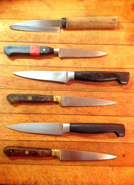 Selection of paring knives
