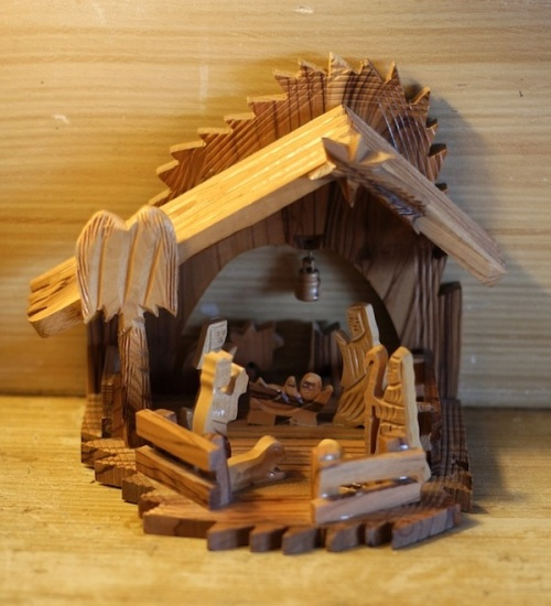 Wooden creche from Bethlehem
