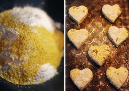Baking ginger cornmeal scones
