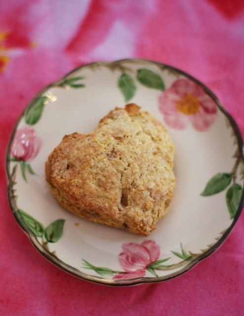 Ginger Heart Scone
