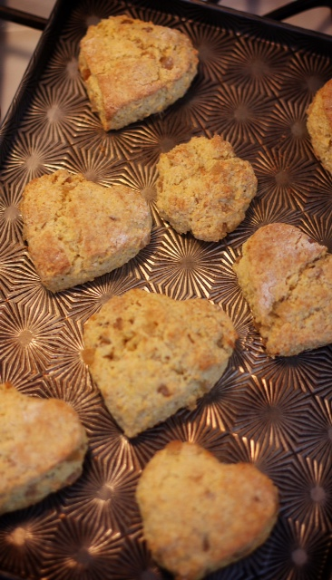 Warm ginger cornmeal scones