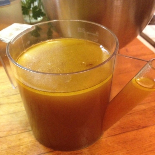 Chicken stock fat separator