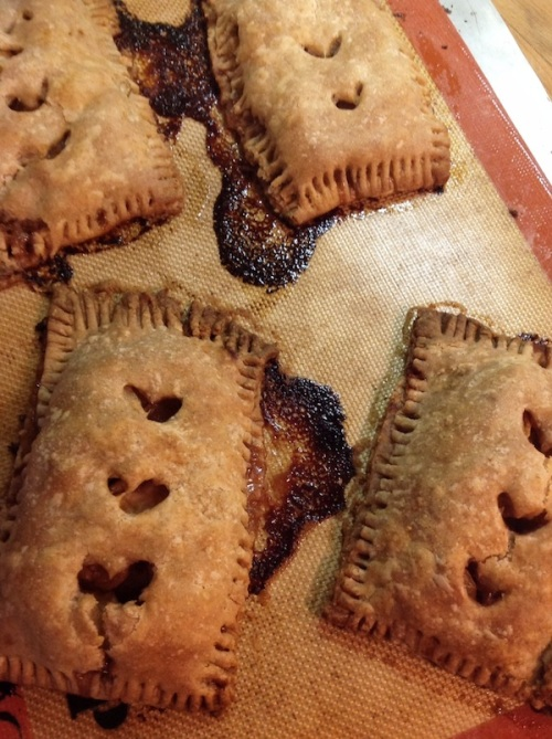 Just out of the oven apple pop tarts