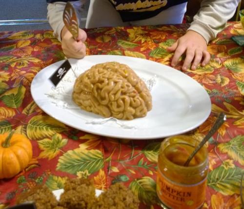 Jell-O brain ready to be eaten