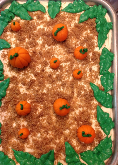 Pumpkin patch carrot cake