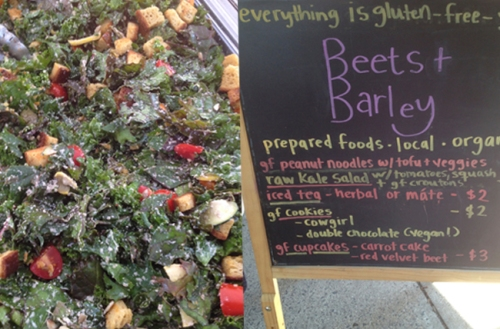 Kale salad from Beets and Barley