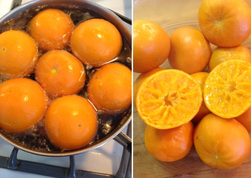 Clementine prep for Clementine Cake