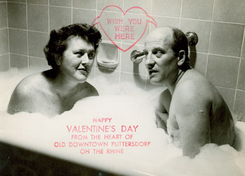 Valentine's Day card of Julia and Paul Child